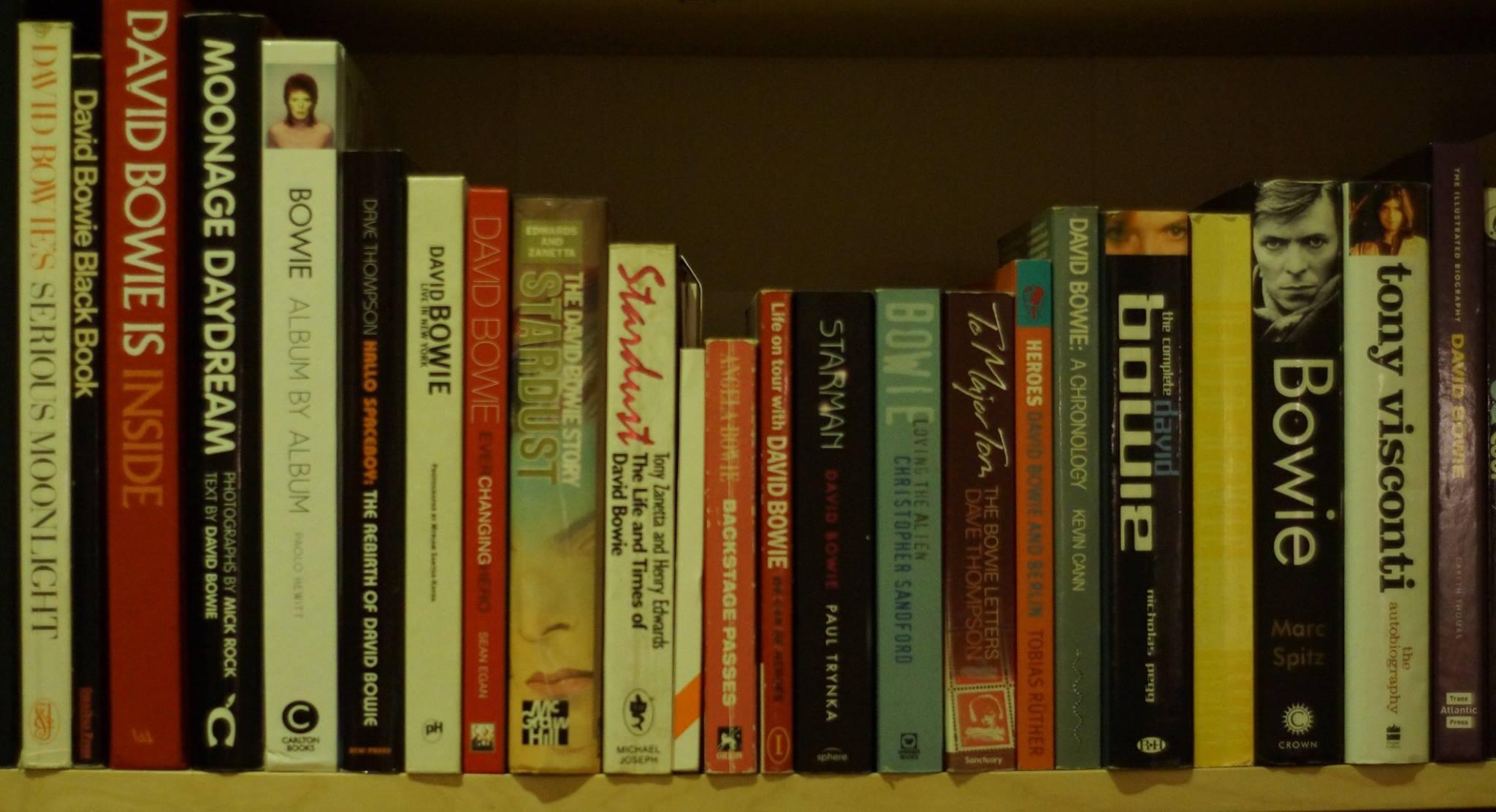 Daniel's David Bowie books collection