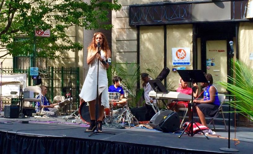 11. Milica Paranosic at the festival Make Music Harlem, summer 2016 (photo credit - Bonnie Bowers