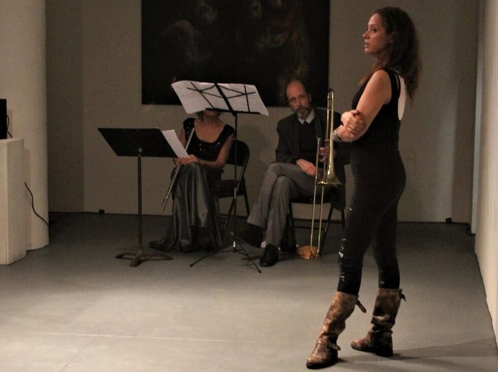 14. Milica Paranosic at Gallery MC, openign a Dance presentation. Photo by Gorazd Poposki