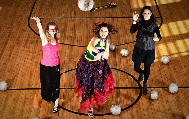 3. Higllighting the relationshhip between sports and music- Lynn Bechtold, Milica Paranosic and Keve Wilson (photo credit Ian D Donald)