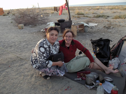 Snezana and local Kyrgyzstan women.