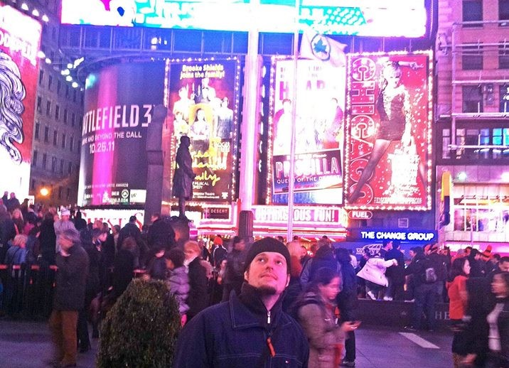 Dimitrije in New York City - TImes Square