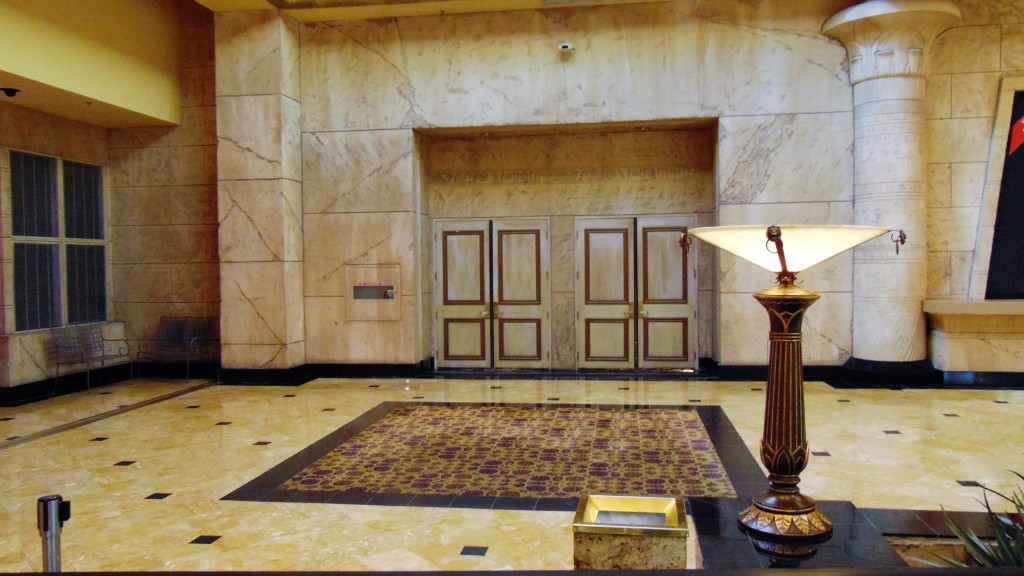 4. Inside of Luxor black Pyramid hotel