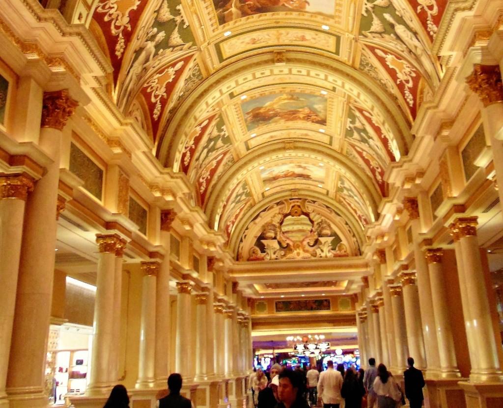 50. Beautiful hand painted frescoes in the Venetian lobby