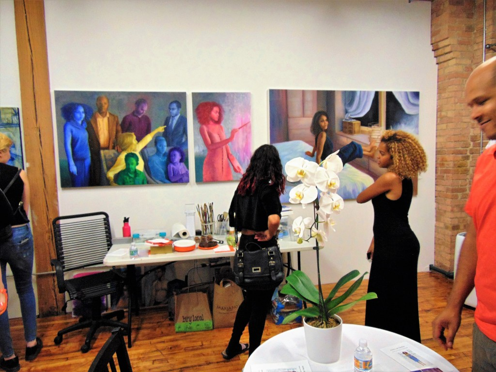 12. Ashley Jan Gardner (right) in her studio