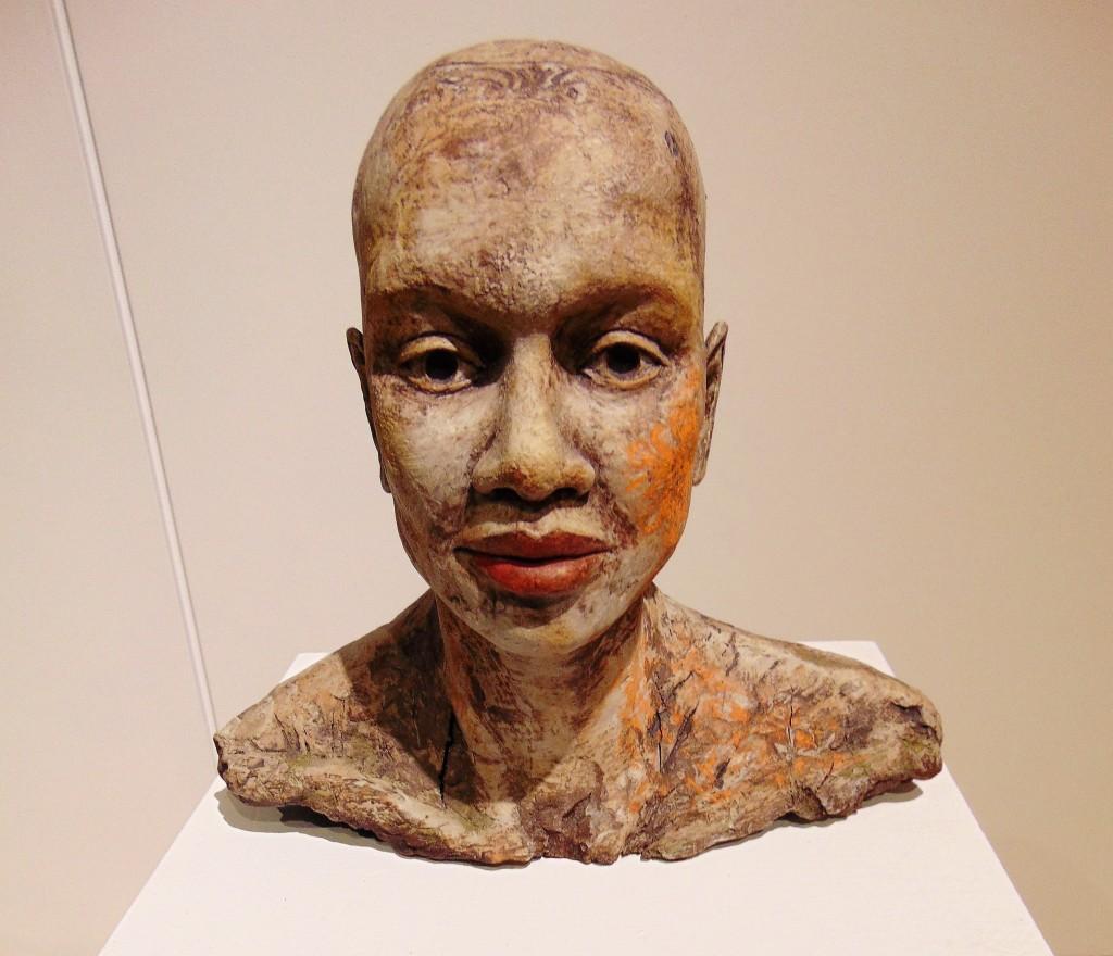14c. Nancy Pirri captivating statue 'Tamara's Stain'
