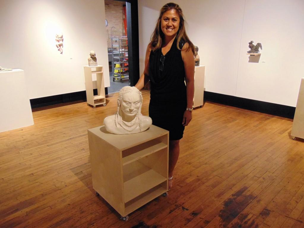 15. Set Gozo beside her Dakota Indian statue