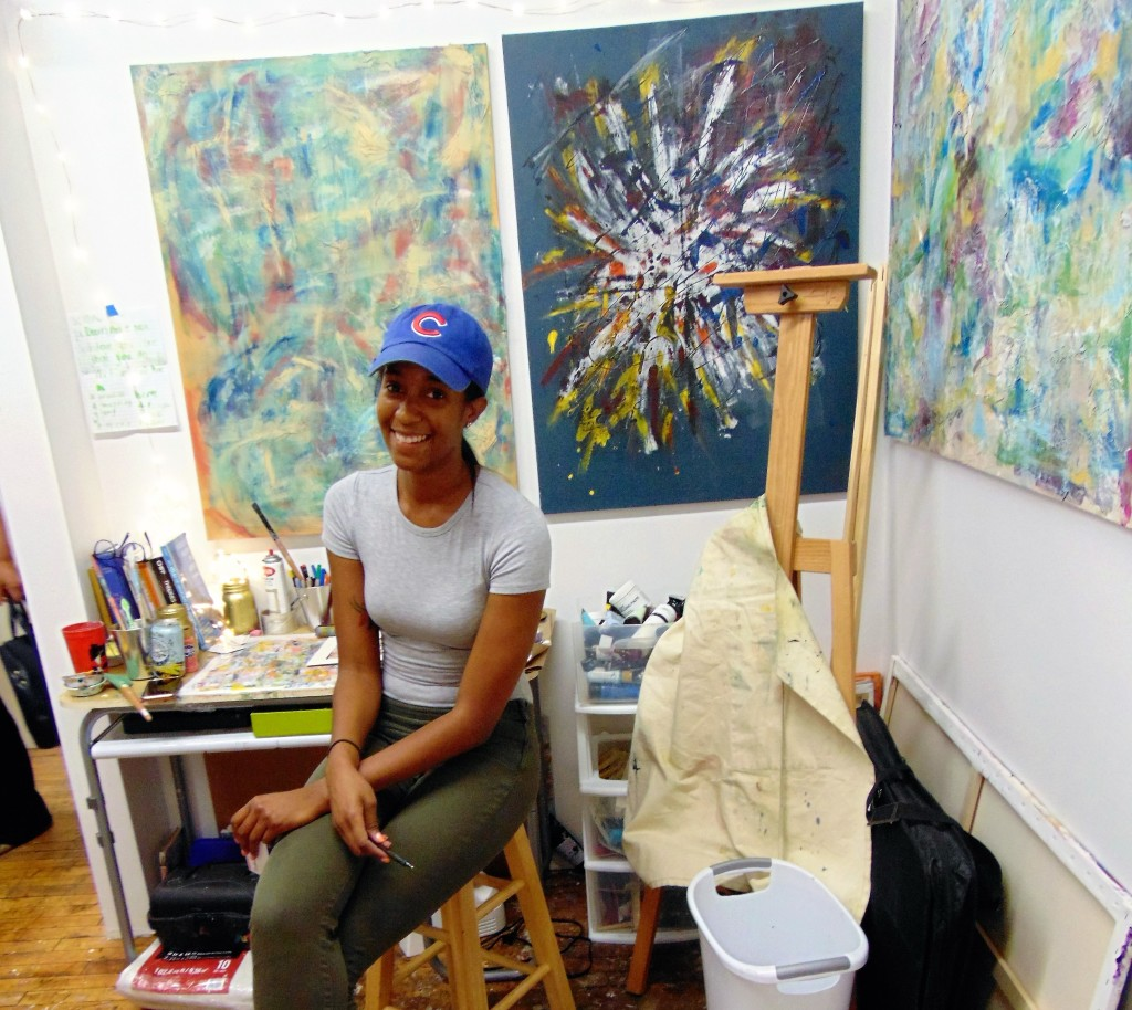 7. Maya Scott in her studio