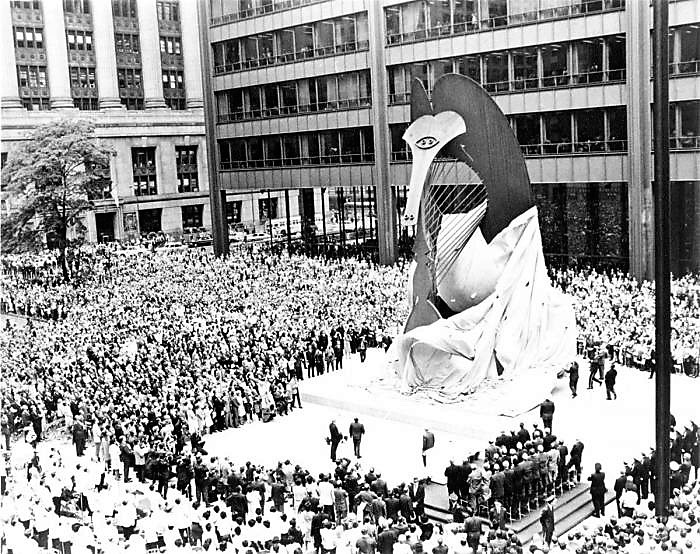 8. Unveiling Picasso sculpture on August 15th 1967