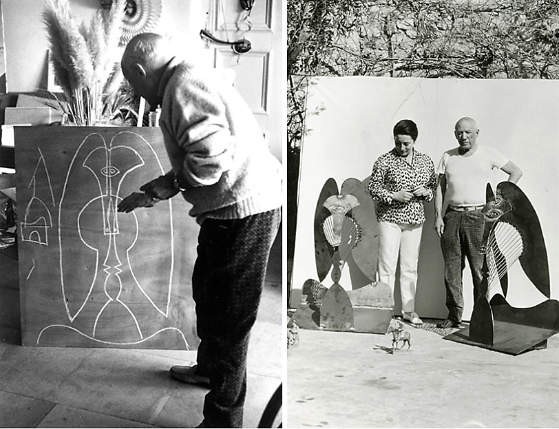 9. Picasso is working on the sculpture
