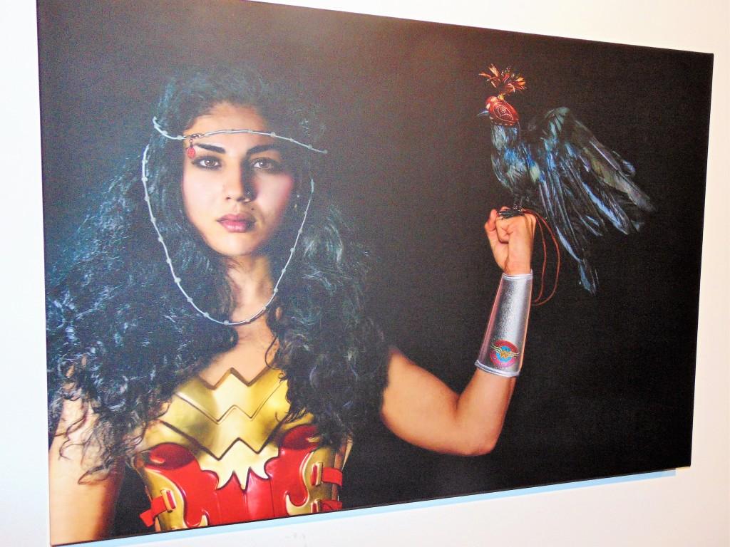 "10. ""Wonder Woman Warrior with Raven"" by Debra Livingston"