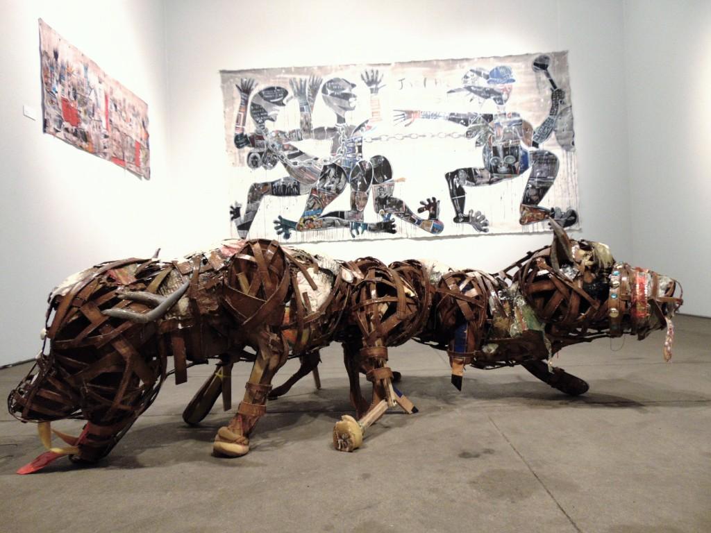 9. 'The Dogs Went Silence' Lavar Munroe, 2017, Jenkins Johnson Gallery