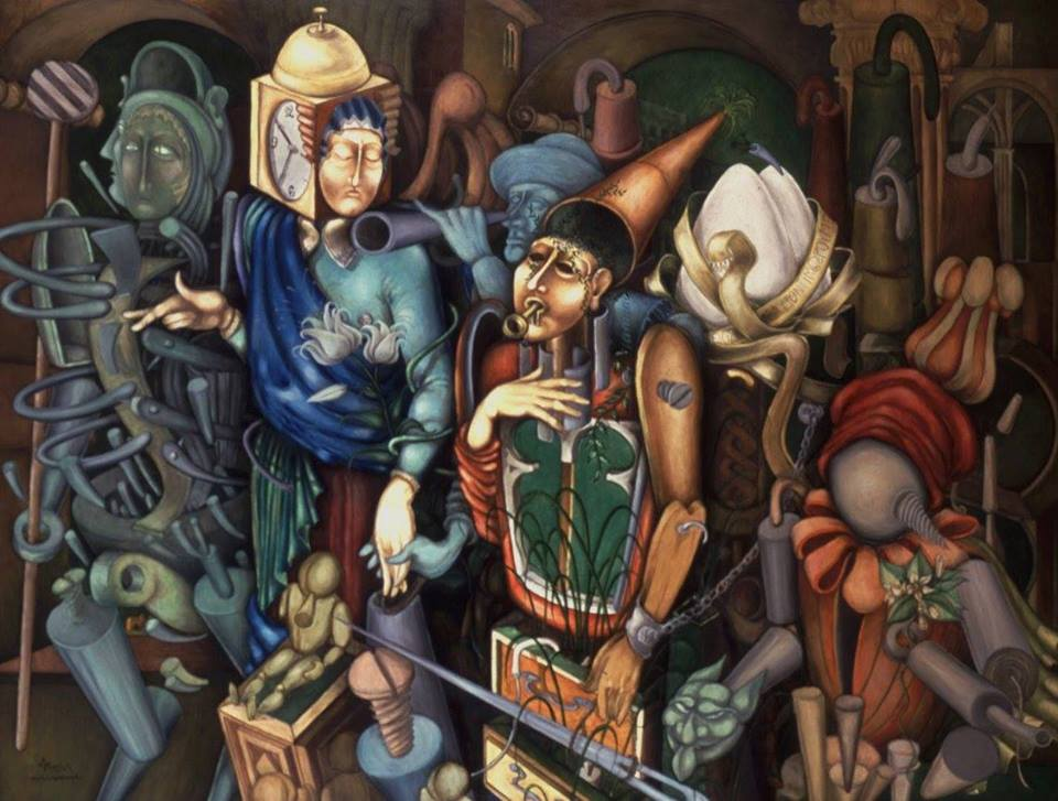 'Heautontimorumenos', 150x200, oil on canvas, 1999-2000