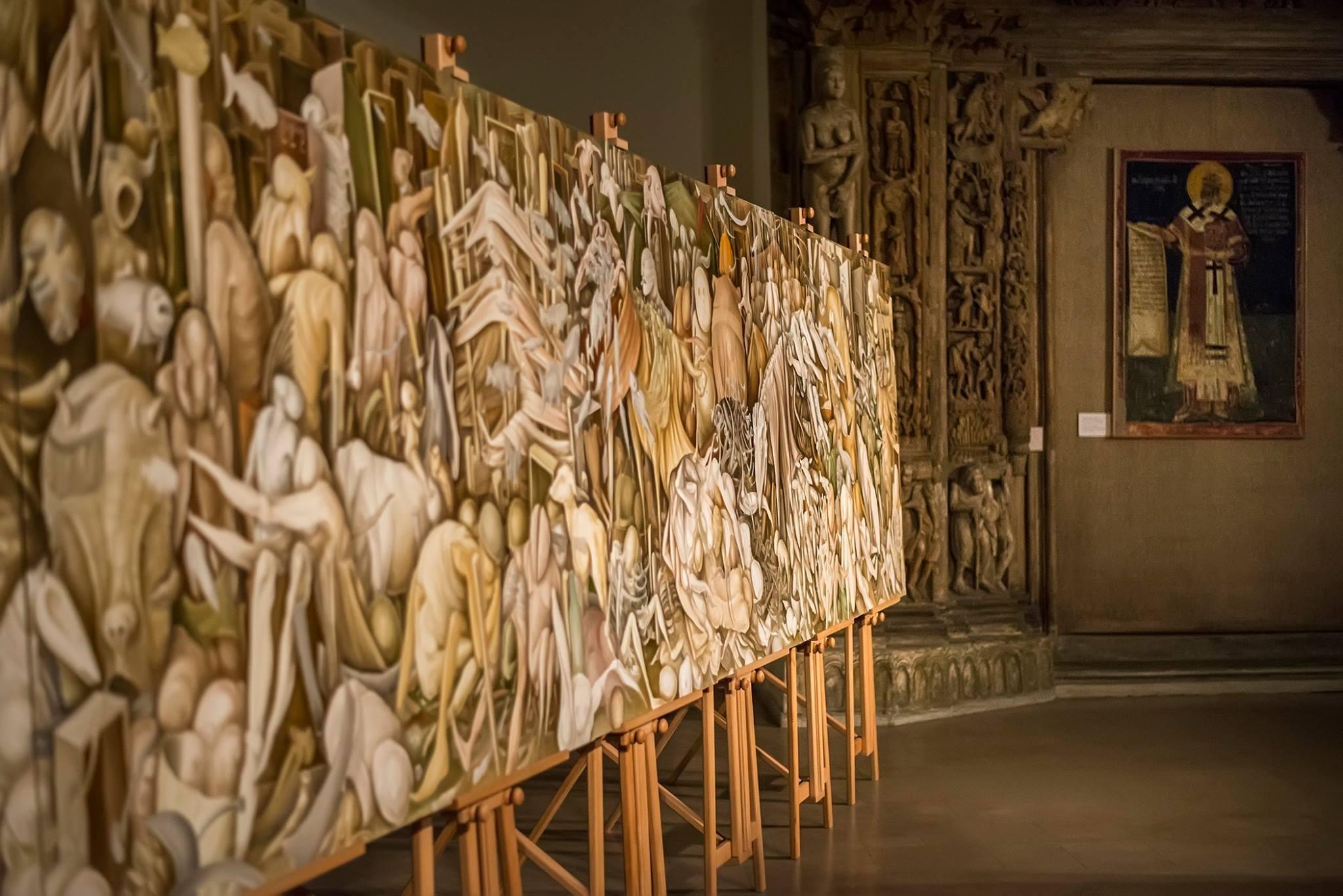 'Purgatorium' - Gallery of Frescoes, National Museum of Serbia, November 5th, 2015 — in Belgrade, Serbia.