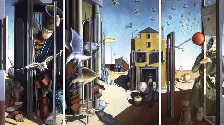 'The Last Day on Earth', triptych, 148 x 256, oil on canvas