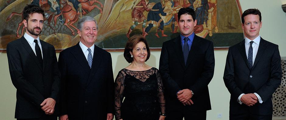 Karadjordjevic family (from the left) - Hereditary Prince Peter, Alexander, princess Katherine, Philip, Prince Alexander and Philp